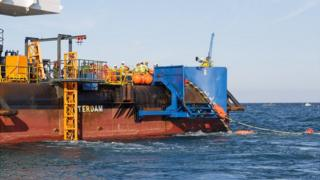 Cable ship Stemat Spirit laying the cable