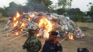Burning of illegal drugs for Nigeria, 2013