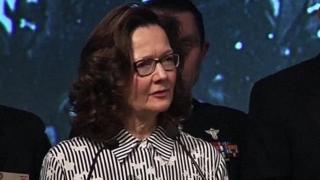 Videograb of Gina Haspel at the 2017 William J Donovan Award Dinner