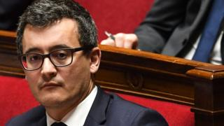 French Minister of Public Action and Accounts Gérald Darmanin attends a session of questions to the government on 31 January 2018 at the French National Assembly in Paris
