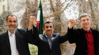 رحیم مشایی، احمدینژاد، بقایی