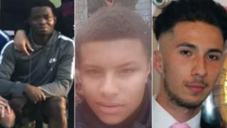 Murder victims Taofeek Lamidi, Kyall Parnell and Steve Narvaez Jara