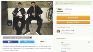 GoFundMe pages for the victims of the crash