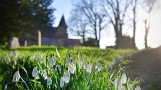 A churchyard cemetery