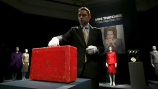 Margaret Thatcher's red prime ministerial dispatch box