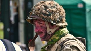 A man wearing Army uniform