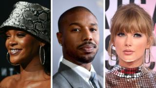 Rihanna, Michael B Jordan and Taylor Swift