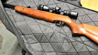 The air rifle seized following a shooting in Exeter