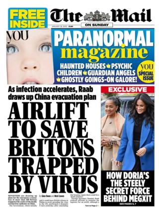 Newspaper headlines: Britons in virus airlift and HS2 cost fury