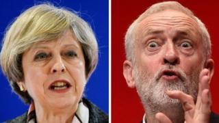 Theresa May və Jeremy Corbyn
