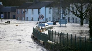 Flooded street, Cockermouth (Getty Images)
