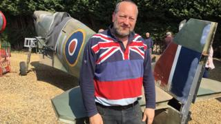 Paul Linsell with Spitfire