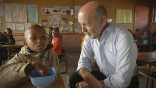Garry Owen yn Lesotho