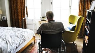 A man in a care home