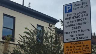 Ashton parking signs