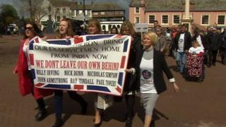 Protestors in Carlisle
