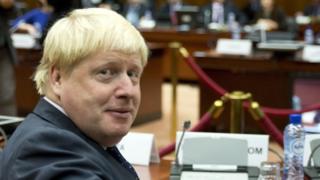 British Foreign Secretary Boris Johnson