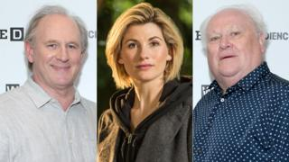 Peter Davison, Jodie Whittaker and Colin Baker