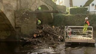 River Nidd debris being cleared