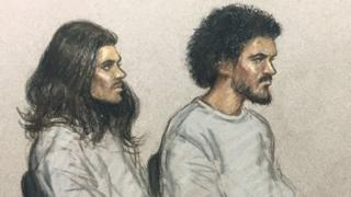 Naa'imur Zakariyah Rahman (left) and Mohammad Aqib Imran in court last December