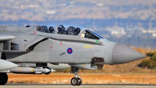 British Tornado jet returns to RAF Akrotiri in Cyprus after carrying out mission in Syria