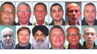 Police image of 12 people convicted