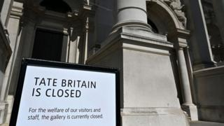 science Tate Britain closed sign