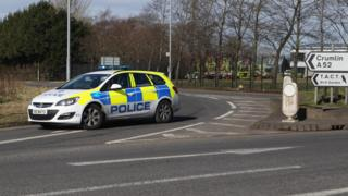 Police closed the Nutts Corner Road for a time after the crash