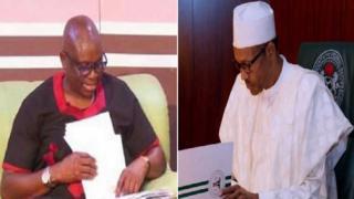 Gomina Ayọ Fayose ati Aarẹ Muhammadu Buhari