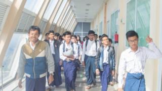 နည်းပညာတက္ကသိုလ် (ရတနာပုံ ဆိုက်ဘာစီးတီး)က ကျောင်းသားတွေ