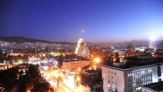 Anga ya mji mkuu wa Damascus