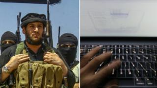 Borac Islamske države i tastatura