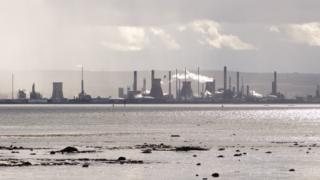 This photo was taken from Culross looking the other way across the Forth to Grangemouth