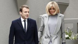 Emmanuel Macron na Brigitte