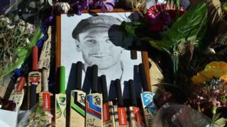 A memorial to Australian cricketer Phillip Hughes