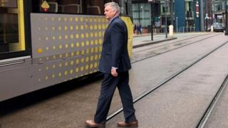 David Copeland leaves Minshull Street Crown Court in Manchester