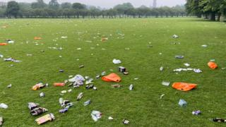 sports Litter on Edinburgh Meadows
