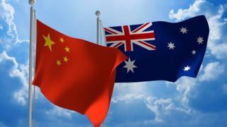 中国与澳大利亚的国旗