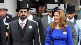 Dubai Emiri Şeyh Muhammed bin Reşit El Maktum ve eşi Prenses Haya, İngiltere'de her yıl Kraliyet Ailesi onuruna düzenlenen Royal Ascot Yarışları'na sık sık katılıyordu. (20 Haziran 2012)