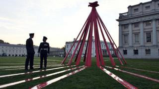 Poppy appeal installation in Greenwich