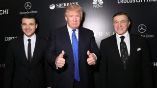 Emin Agalarov, Donald Trump, Aras Agalarov