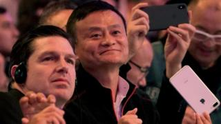 Alibaba Group co-founder and Executive Chairman Jack Ma arrives at Alibaba Group's 11.11 Singles' Day global shopping festival