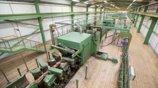 Computer technology helps run the sawmill line at BSW in Dalbeattie