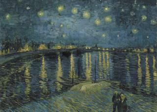 《罗纳河上的星月夜》( Starry Night Over the Rhone)