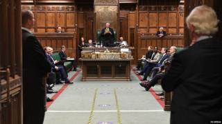 Speaker Lindsay Hoyle and other MPs in the Commons chamber