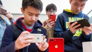 أجهزة هواتف أبل في الصين