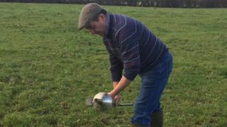 Farmer James Brown from Ballywalter is one of the few farmers who tests his soil