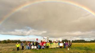 Findhorn Protest