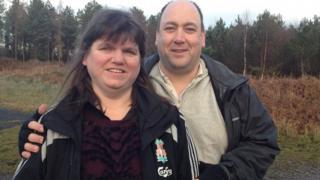 Jill Saward and husband Gavin Drake