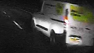 Van driver sought after hit and run